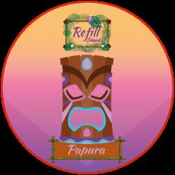 REFILL-ISLAND - PAPURA (0MG/ML NICOTINE)